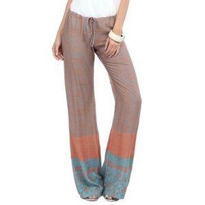 Orange Border Drawstring pants